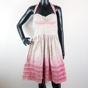 2ef7d27600a [BETSEY JOHNSON] Mini Floral Pinup Dress